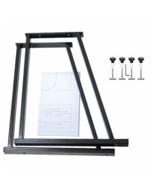 Konsolen Set schwarz mit Zuschnitt Vorlage für VW T5 T6 Multiflexboard Rastschiene