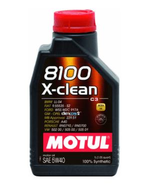 Motul 8100 X-Clean vollsynthetisches Motoröl 5W40