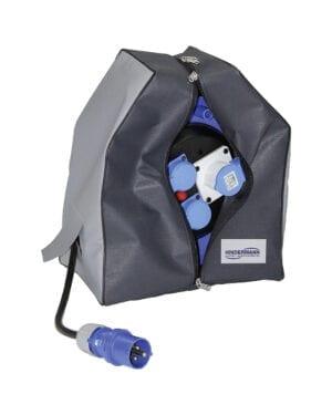 Kabeltrommel Tasche hellgrau/dunkelgrau